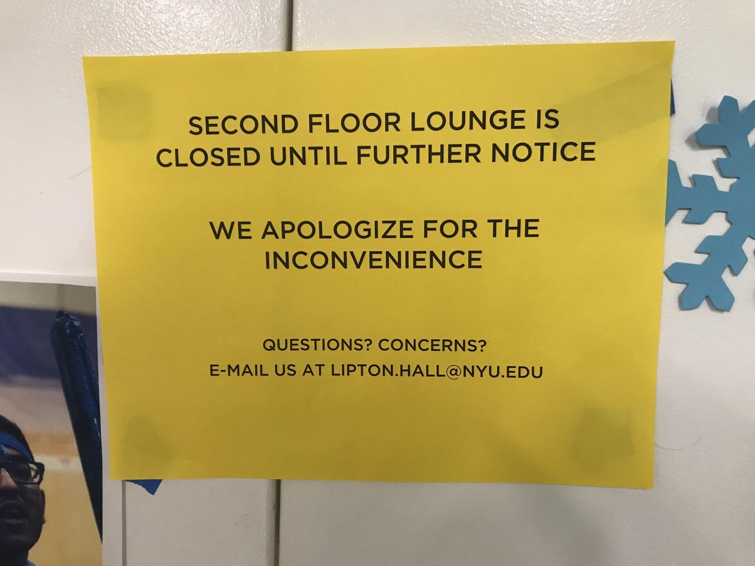Lipton Hall lounge closed after hate symbols found again.