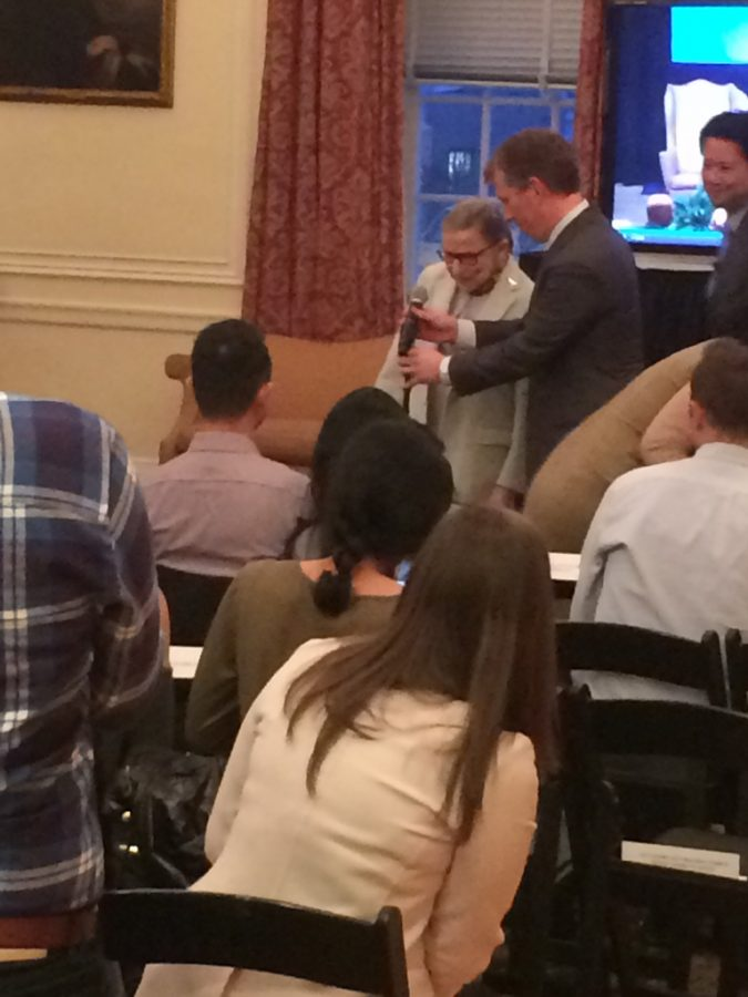 Some+students+started+lining+up+at+1.30+p.m.+for+Ruth+Bader+Ginsburg%27s+4.30+p.m.+event+at+NYU+Law.