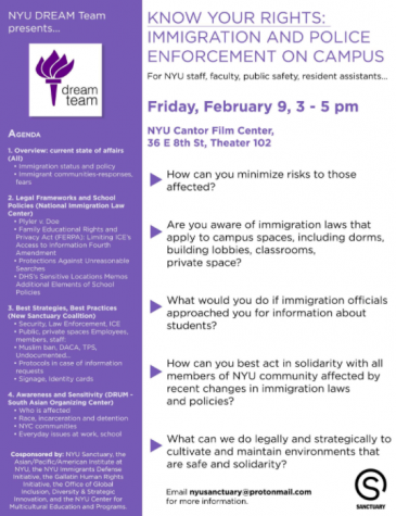 Activists, Professors and NYU Organizations Host 'Know Your Rights' Immigration Workshop