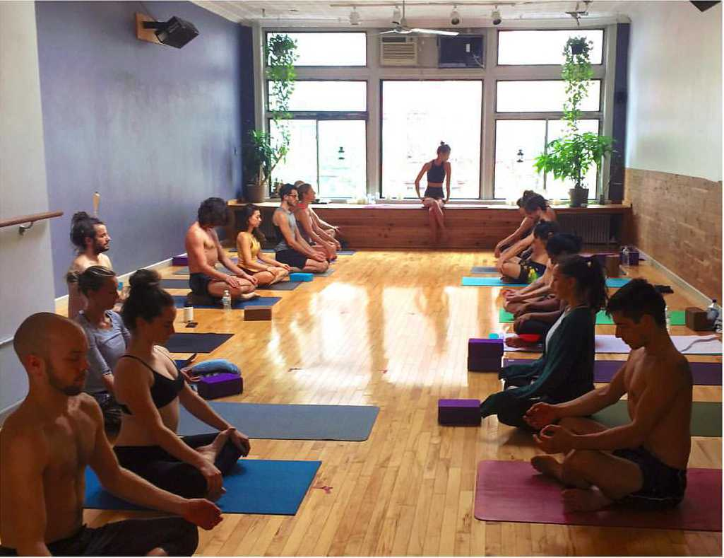 Yoga for the People on St. Marks Place offers donation based classes.