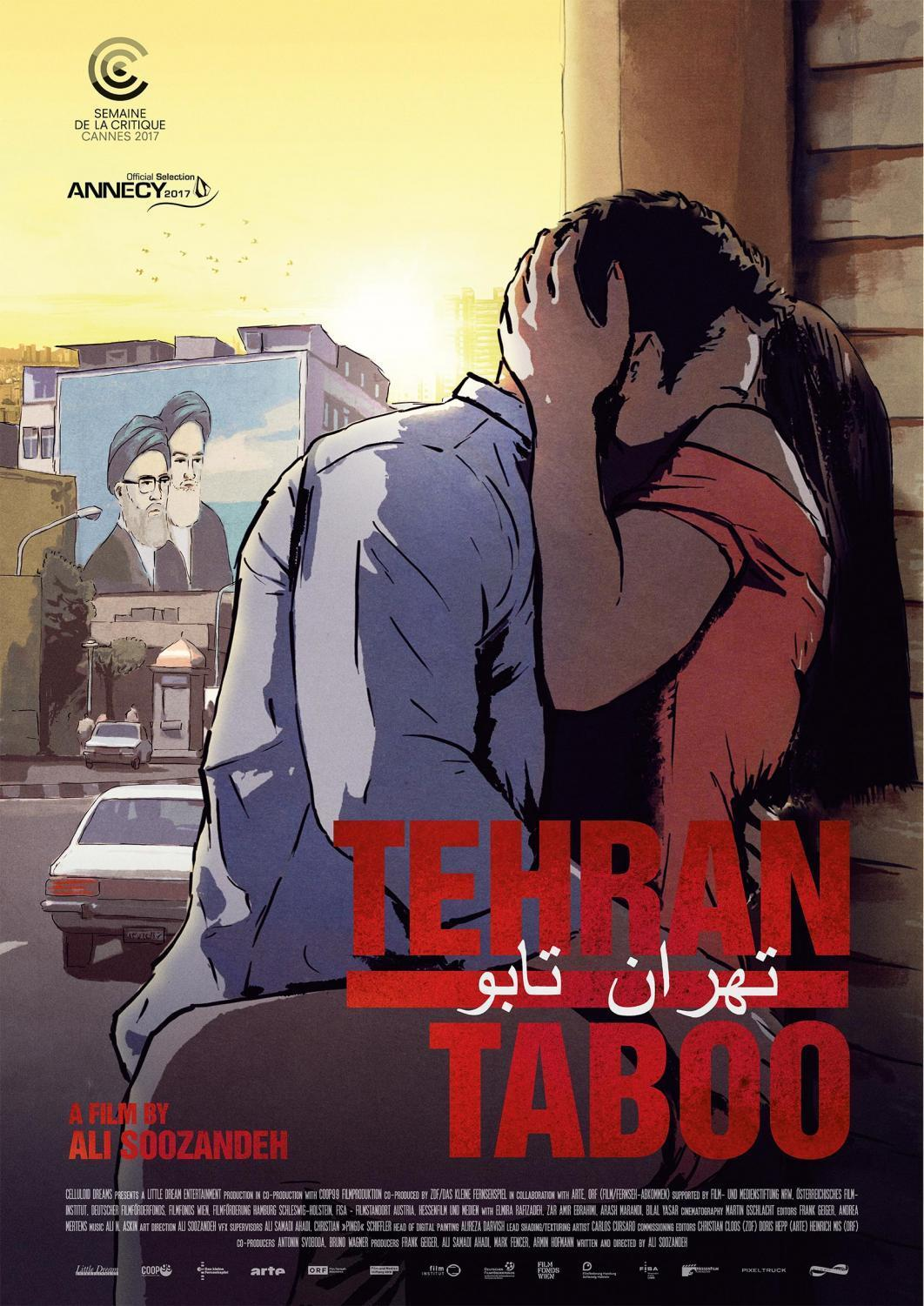 A poster for Tehran Taboo, a film by Ali Soozandeh.