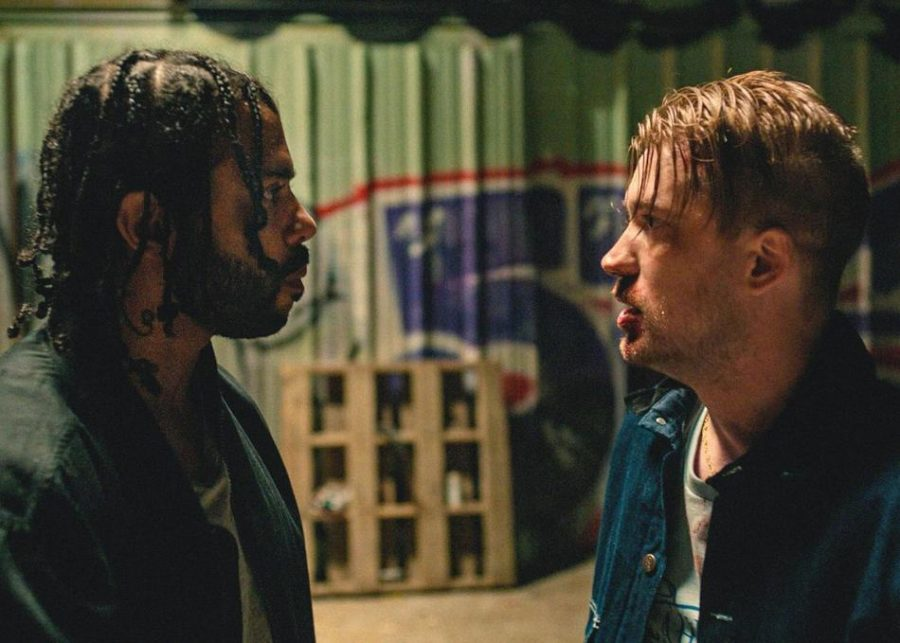 A+scene+from+%E2%80%9CBlindspotting%2C%E2%80%9D+starring+Daveed+Diggs+as+Collin+and+Rafael+Casal+as+Miles.