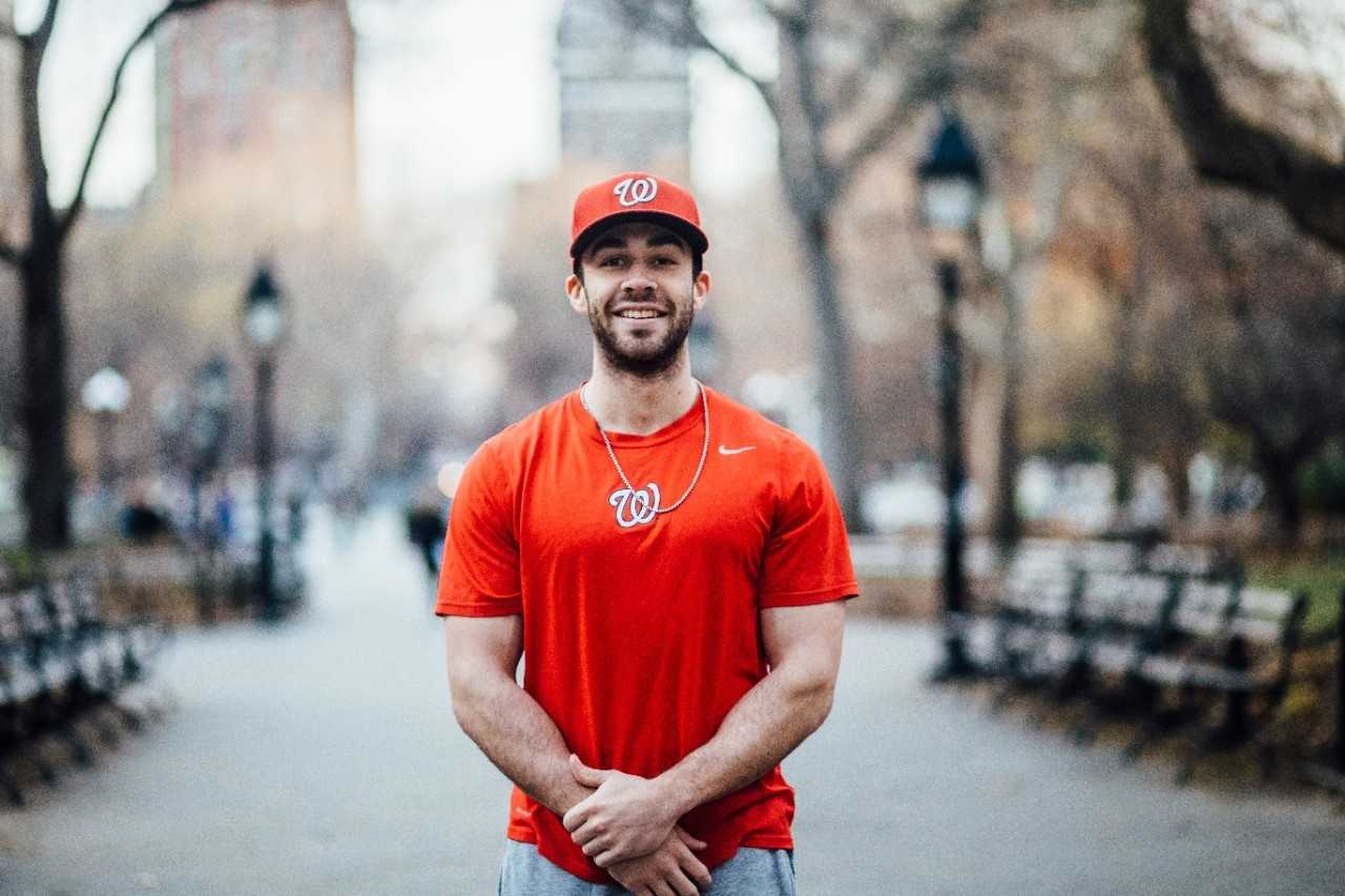 C.J. Picerni, the first NYU baseball player selected for the MLB draft in 40 years.