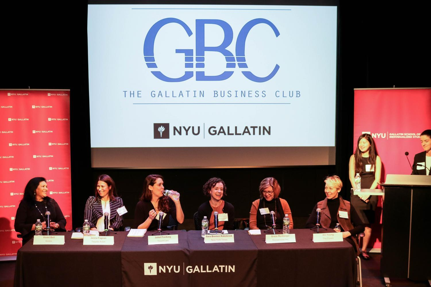 Gallatin Business Club's Women in Business panel.