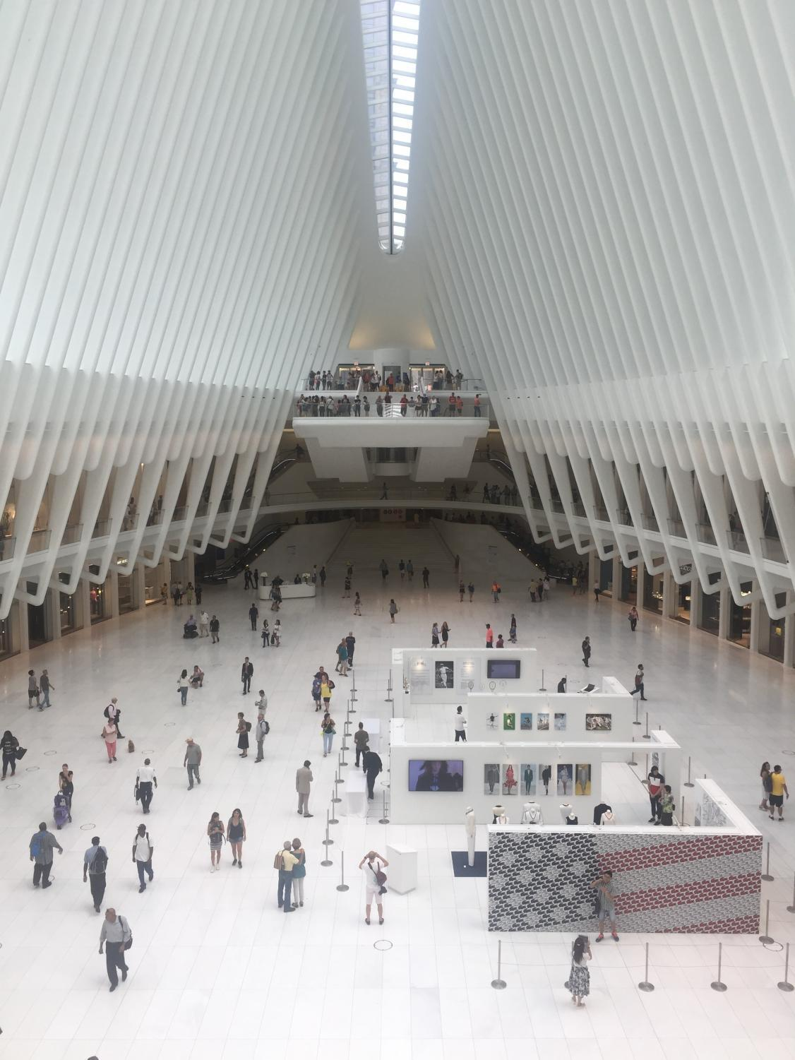 The Oculus, a popular indoor mall in the Financial District.