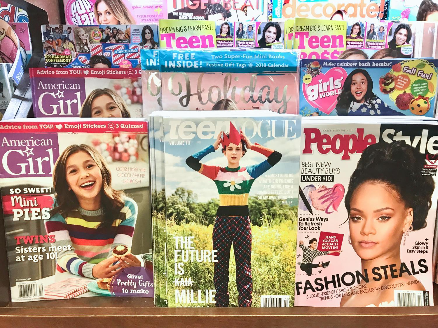 Teen Vogue on display at Barnes and Noble.