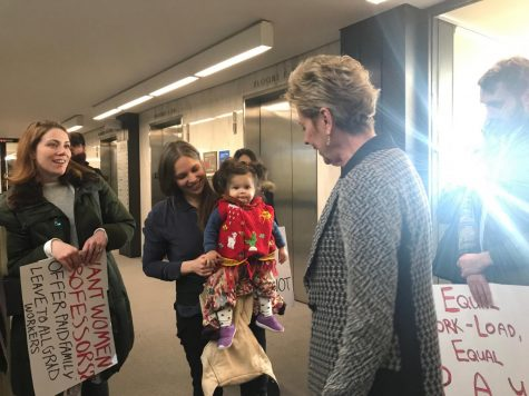 GSOC Protests for Paid Family Leave in Bobst