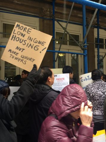 Evicted 85 Bowery Tenants Protest Outside Department of Buildings Office