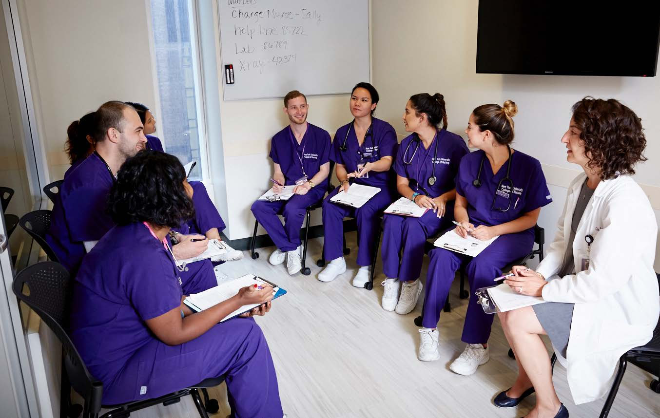 Students of the Rory Meyers College of Nursing.