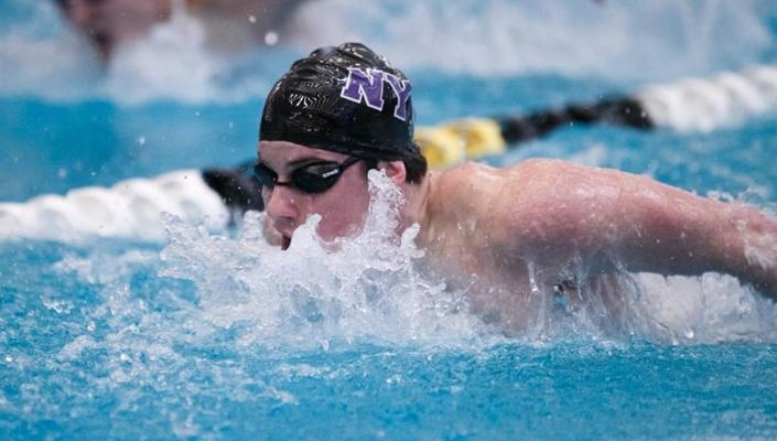 SPS+senior+Ian+Rainey+competing+for+NYU.+Rainey+recently+on+two+national+titles+at+the+NCAA+Division+III+Swimming+and+Diving+National+Championships.