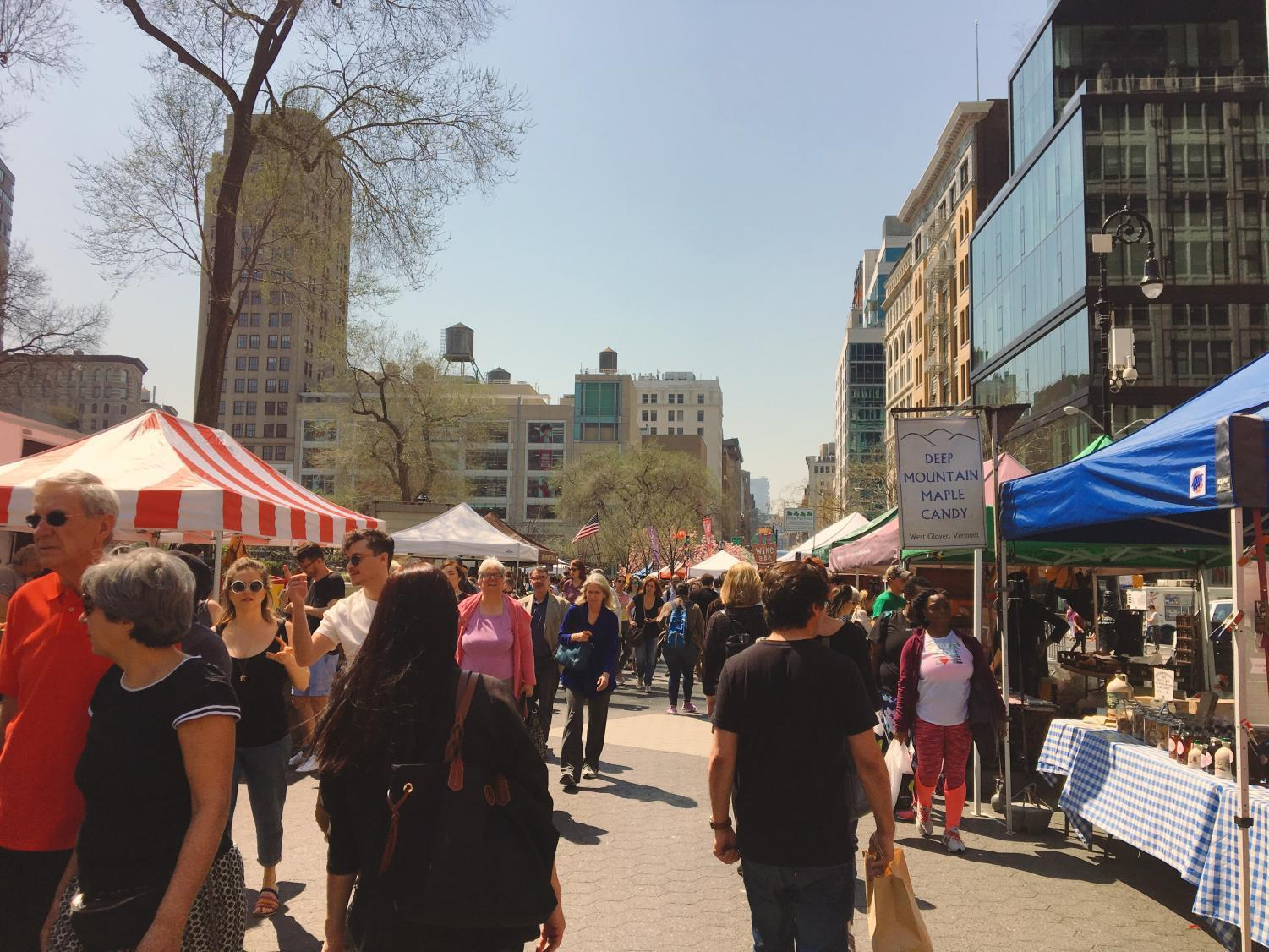Eating local is possible at the Union Square Farmers' Market, open on Mondays, Wednesdays, Fridays and Saturdays from 8 a.m. to 6 p.m.