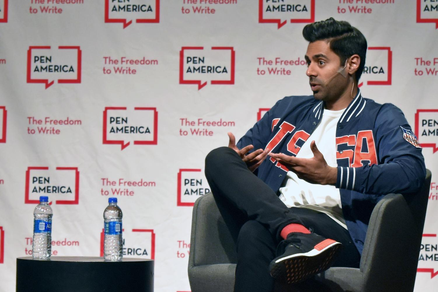 Hasan Minhaj at the PEN World Voices Festival on April 22. Minhaj discussed his comedy and being Muslim in the era of President Donald Trump.