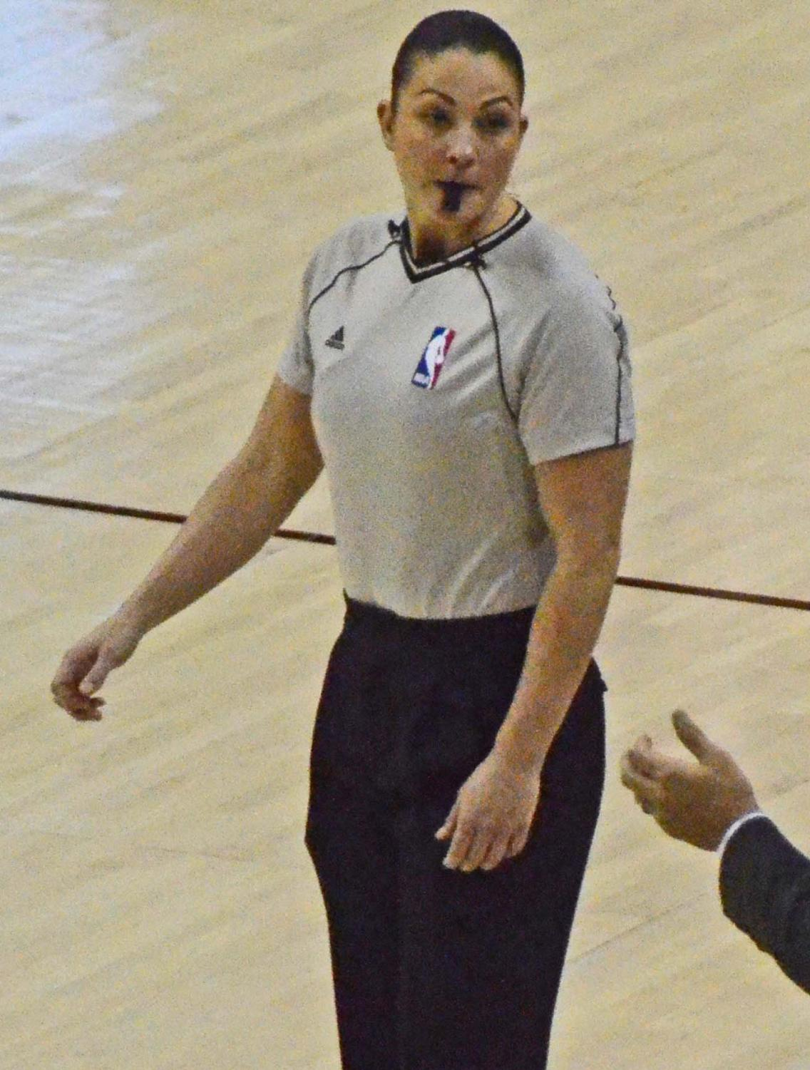 Lauren Holtkamp is the third woman to become a full-time referee for the NBA.