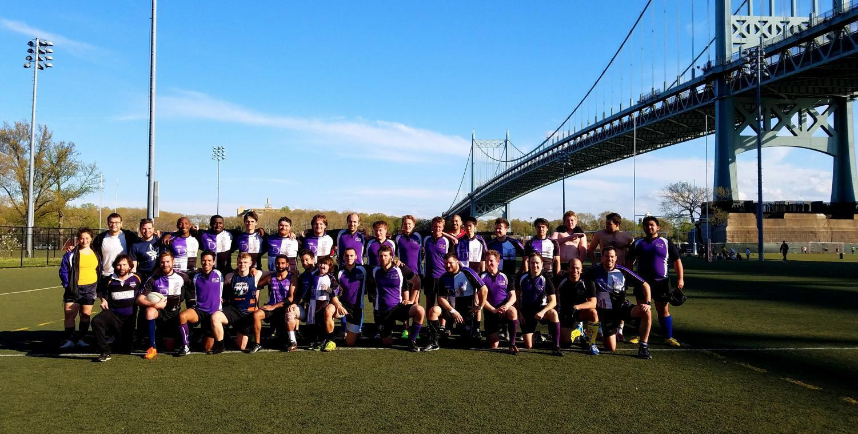 NYU Stern's Spring 2018 Rugby team.