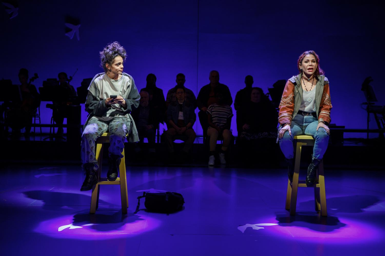 "Gizel Jiménez and Daphne Rubin-Vega in the new musical ""Miss You Like Hell""."