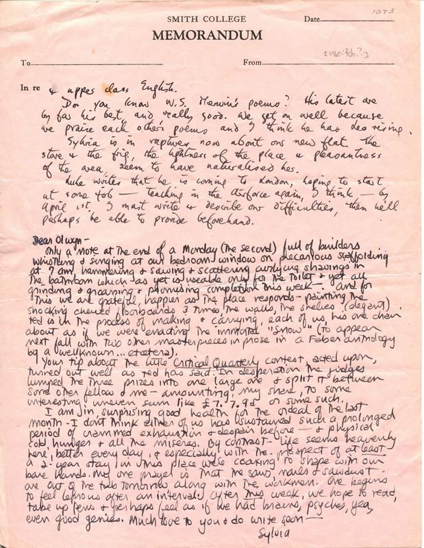 One+of+the+many+lost+letters+published+in+%22The+Letters+of+Sylvia+Plath.%22