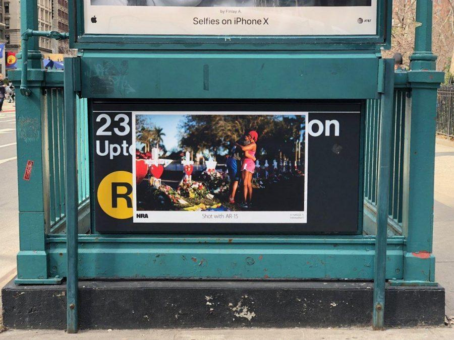 The+%22Shot+by+AR-15%22+campaign+has+been+making+waves+in+subway+stations+around+the+city.