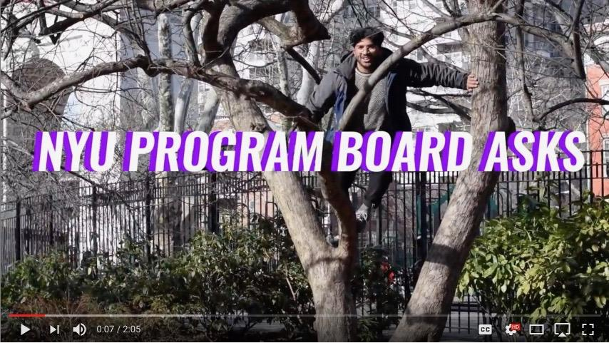 "The Program Board's new YouTube series ""NYU PB ASKS"" hits the streets to find out what NYU students are binging and listening to."