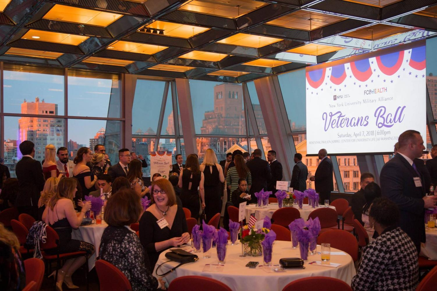 The third Annual Veterans Ball took place on April 7 in Kimmel Rosenthal.