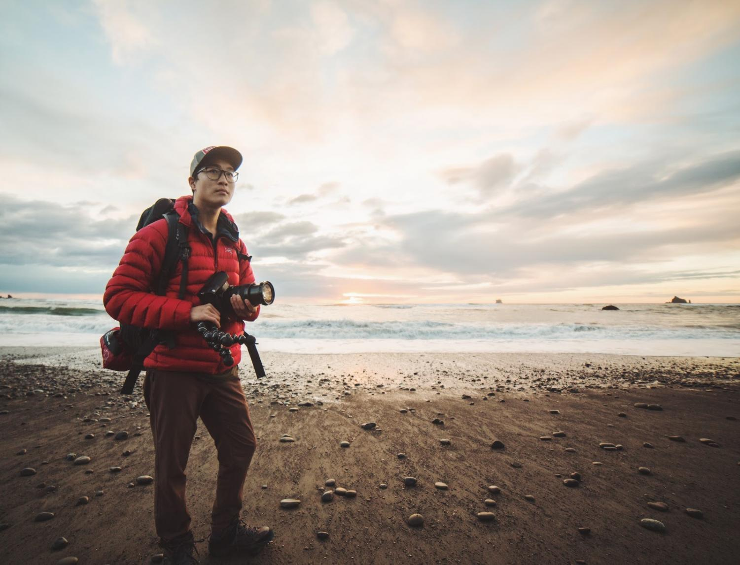 SideWagon founder Eric L. Hu at La Push, Washington