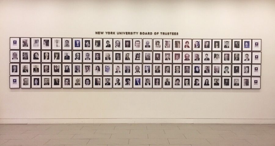 Portraits+of+NYU%27s+Board+of+Trustees+on+display+on+the+fourth+floor+of+the+Global+Center+for+Academic+and+Spiritual+Life.