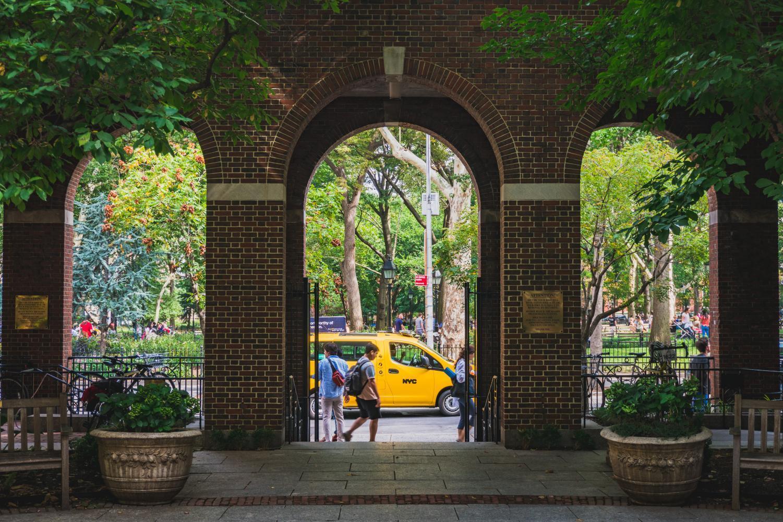Courtyard of the Brennan Center at NYU Law