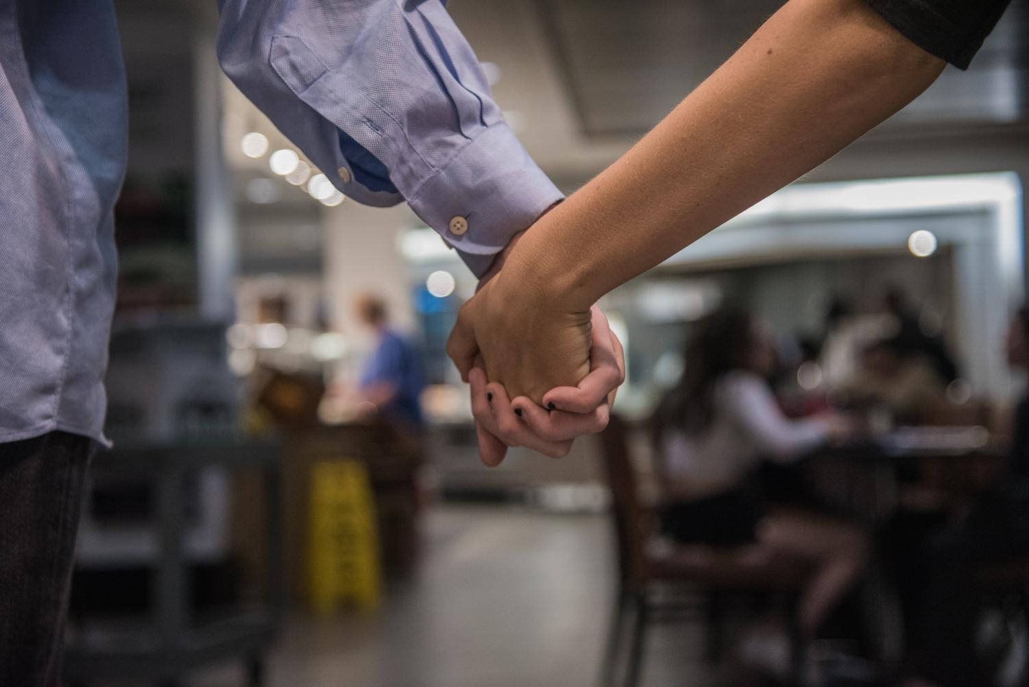 Dining halls are not the greatest spot for a first date, but at least they're affordable.