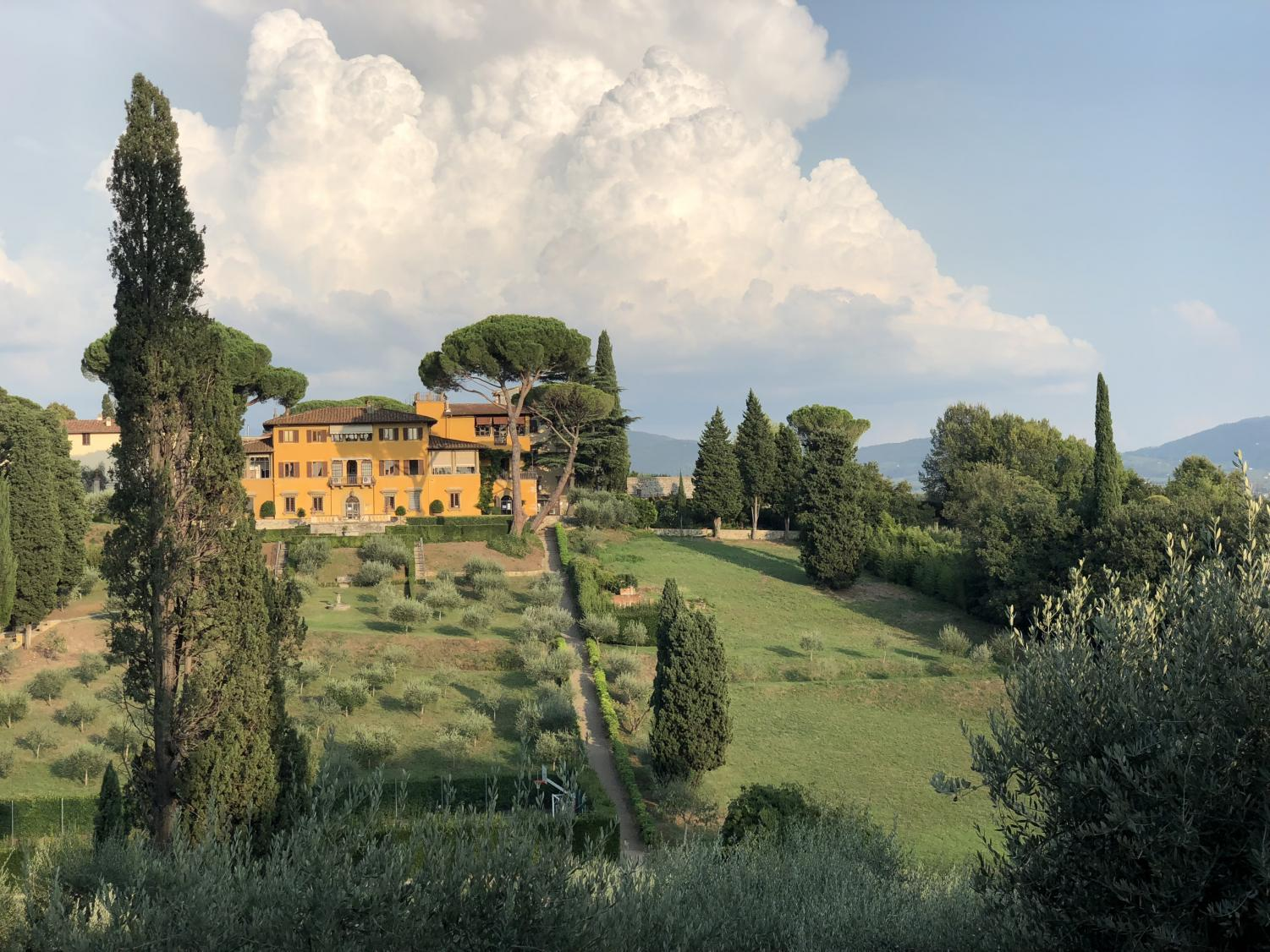 A view of NYU Florence campus from Villa Natalia.