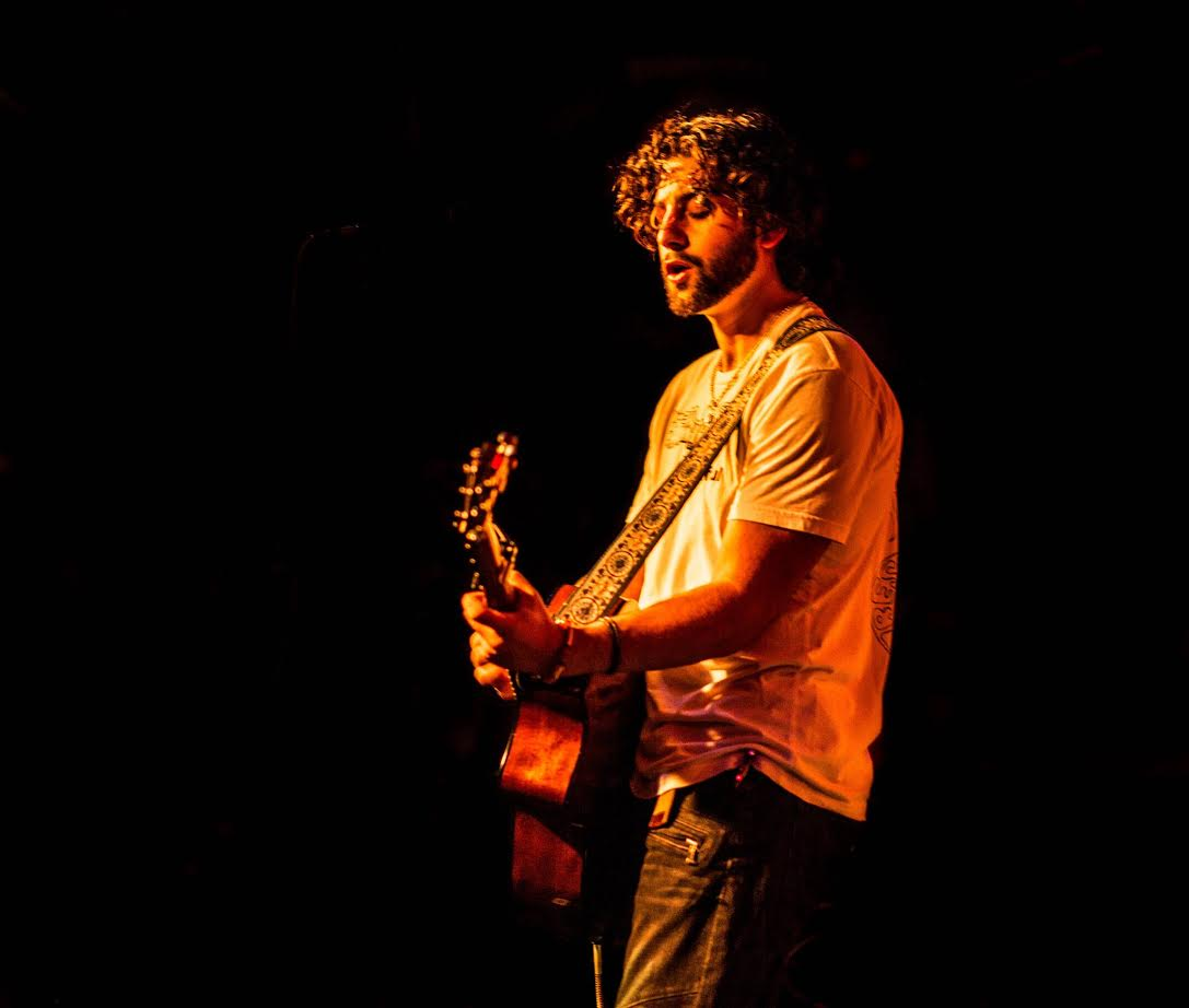 Michael Manzi plays a show at campus music venue The Bitter End.