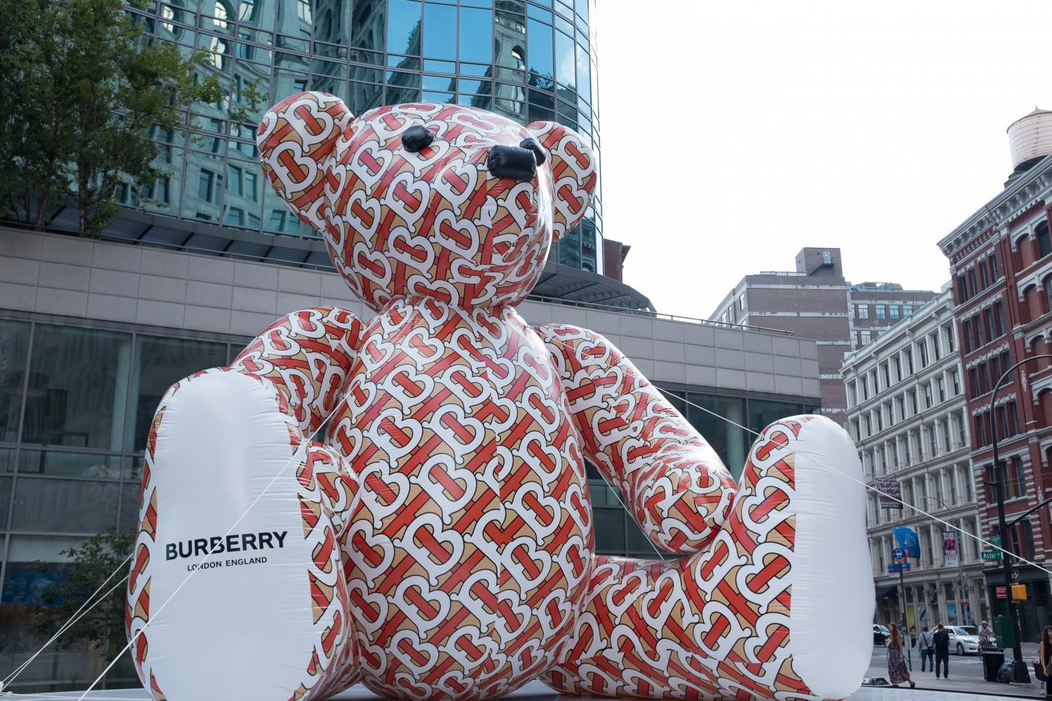 The Burberry Bear in Astor Place.