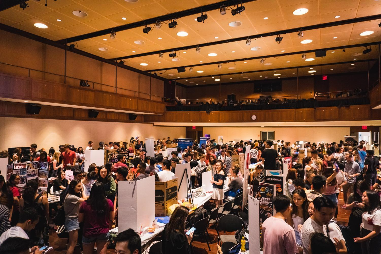 The annual Fall Club Fest was held on Sept. 5 on the 9th and 10th floors of the Kimmel Center for University Life.