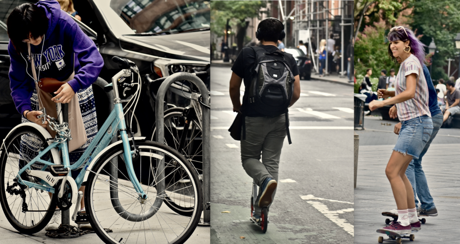 Skate, Scoot, Skedaddle: Creative Commuting Around NYU