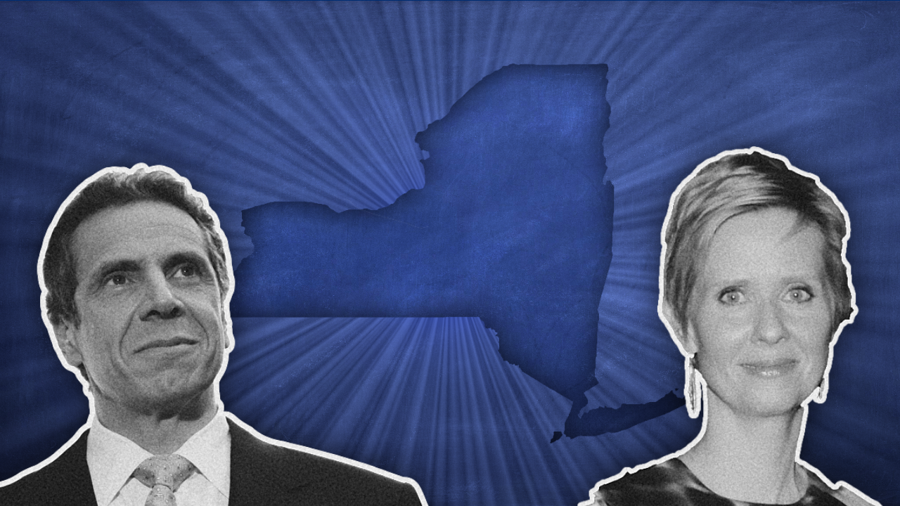 Candidates in the Democratic primary include Andrew Cuomo and Cynthia Nixon.
