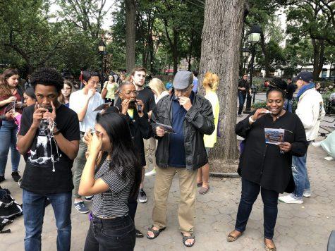 500 Harmonicas Serenade Washington Square Park