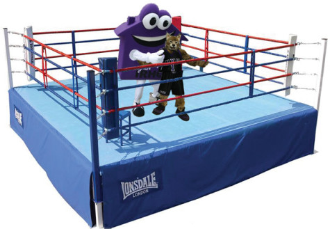 NYU mascots Housie, BobCat face off in skirmish