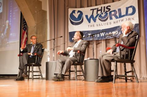 Elie Wiesel, Rwandan president discuss genocide
