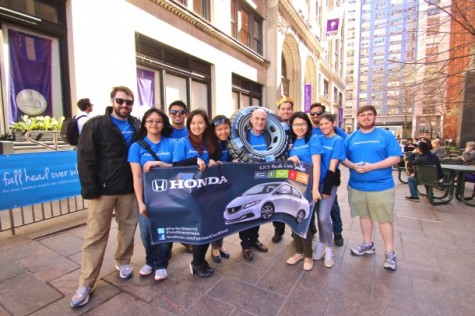 Students plan Honda ad campaign