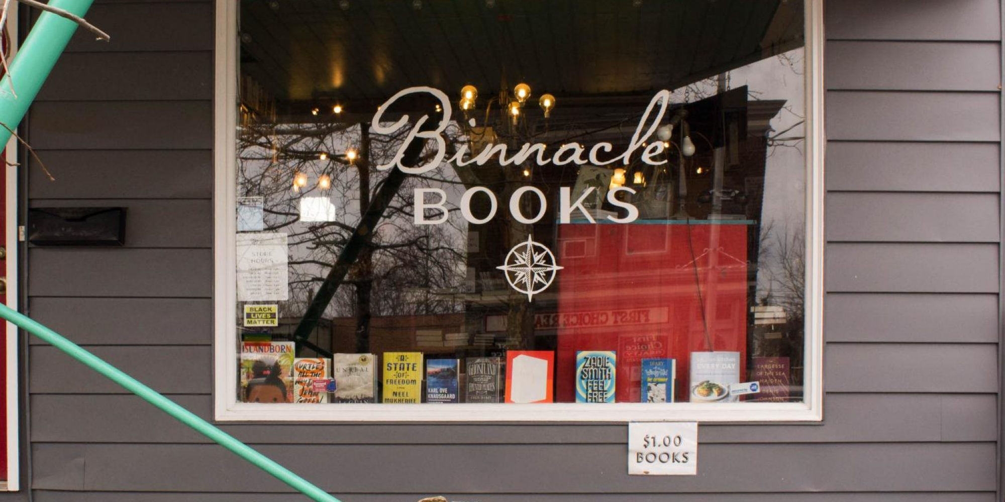 A local bookstore, Binnacle Books, sells new and used titles at their shop on Main Street in Beacon, NY.